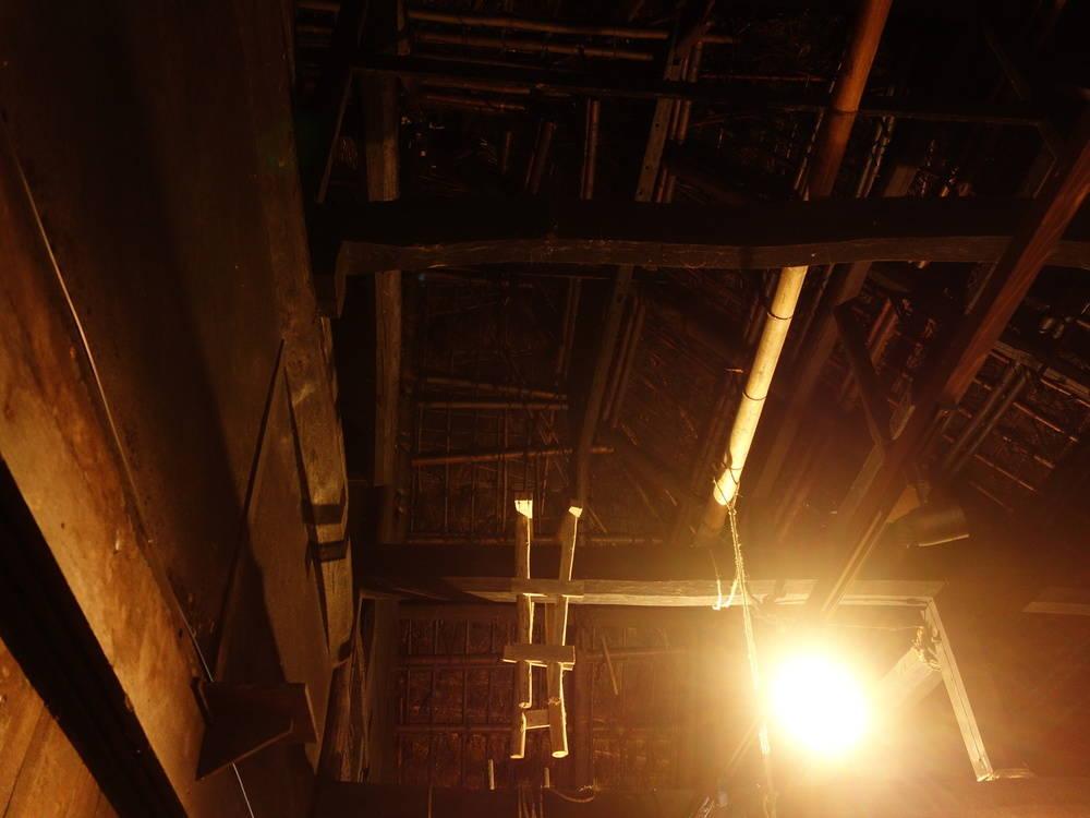 金栗四三の生家。天井も高い。